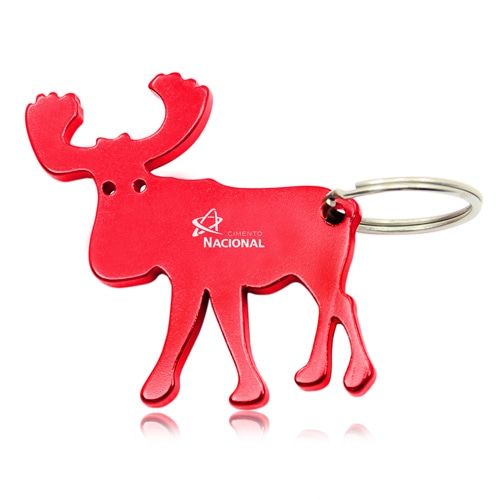 Moose Shape Keychain With Opener Image 2