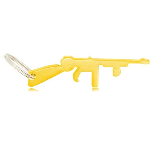 Gun Shape Bottle Opener Keychain Image 1