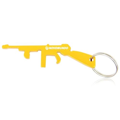 Gun Shape Bottle Opener Keychain Image 2