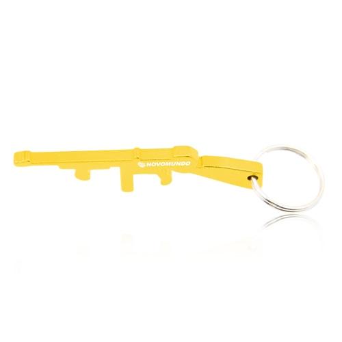 Gun Shape Bottle Opener Keychain Image 5