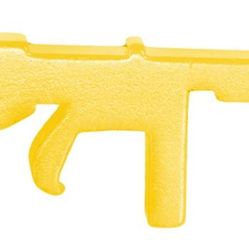 Gun Shape Bottle Opener Keychain