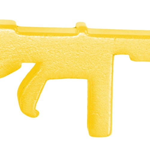 Gun Shape Bottle Opener Keychain Image 6