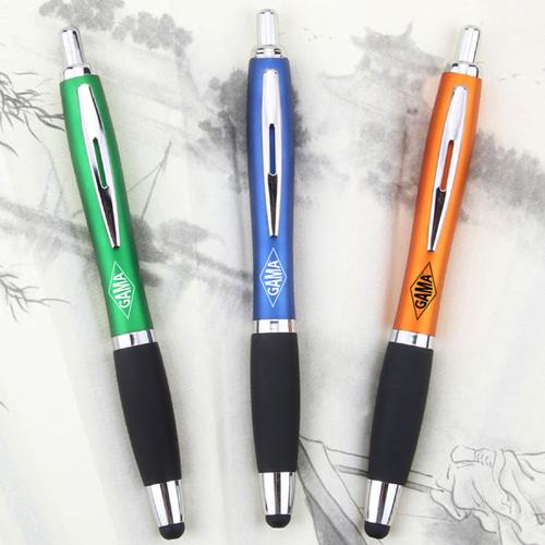Rubber Grip Retractable Stylus Pen