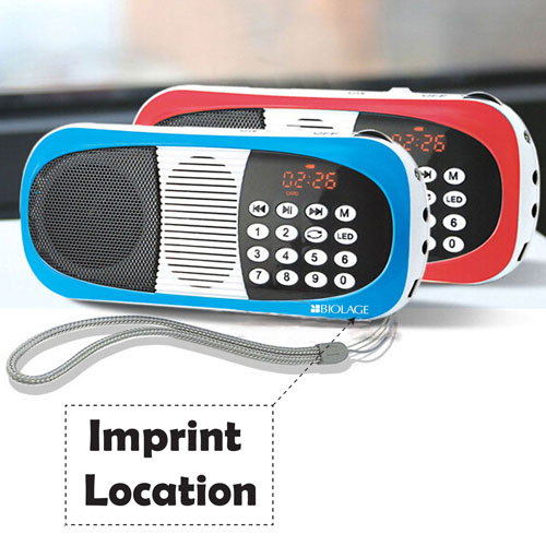 Portable Digital FM Radio With Mp3 Player Imprint Image