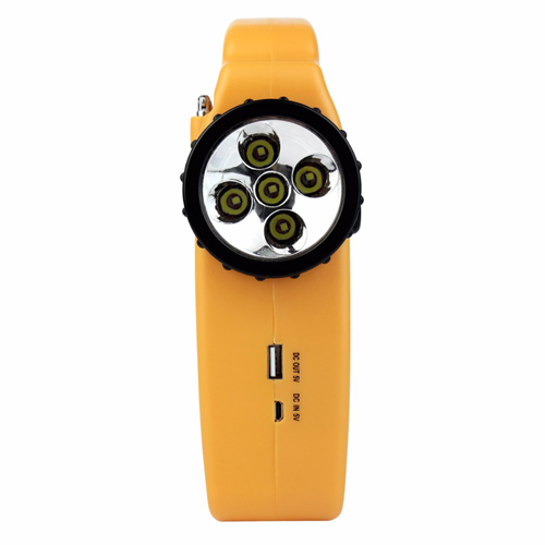 Solar Dynamo Power FM Radio With LED Flashlight Image 1