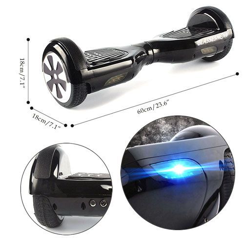 Self Balancing Smart Hoverboard With LED Light
