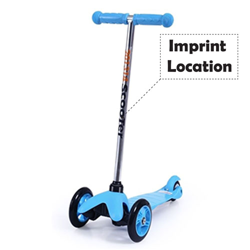 Three Wheel Childrens Scooter Imprint Image