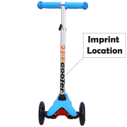 Foldable Children Three Wheel Scooter Imprint Image