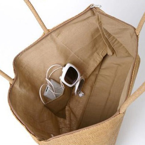 Straw Shoulder Diaper Bags Image 1