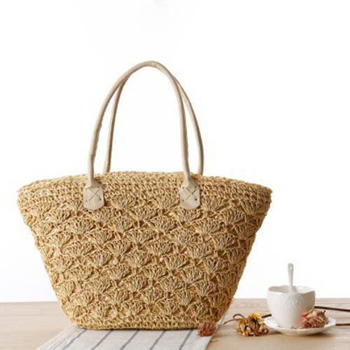 Straw Shoulder Women Tote Bag