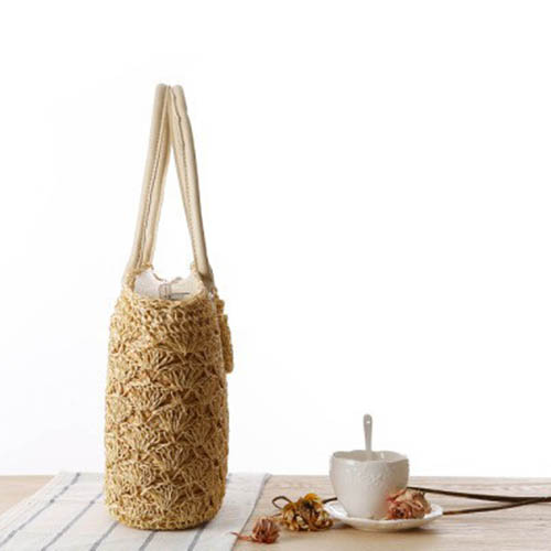 Straw Shoulder Women Tote Bag Image 1