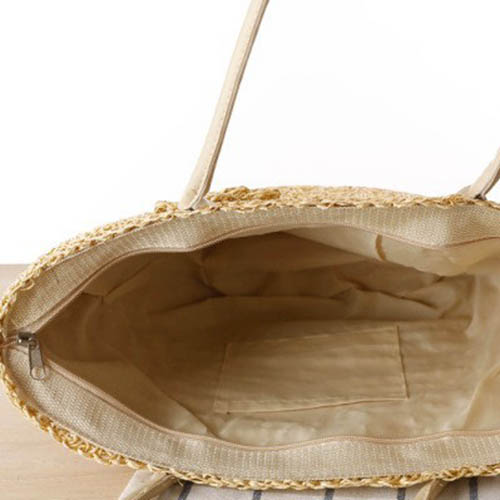 Straw Shoulder Women Tote Bag