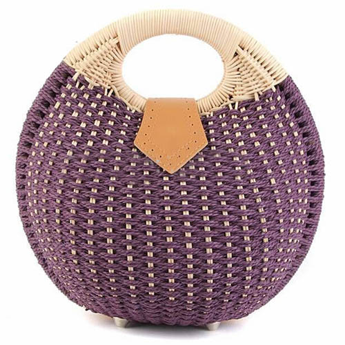 Women Shell Woven Beach Bag