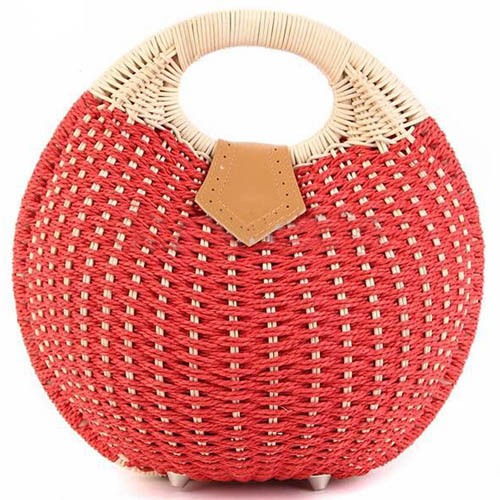 Women Shell Woven Beach Bag Image 1