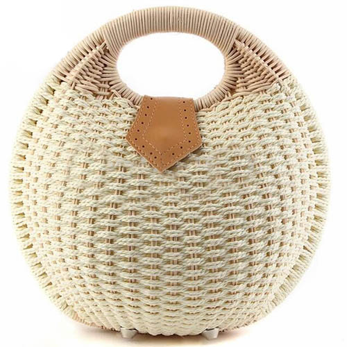 Women Shell Woven Beach Bag Image 2