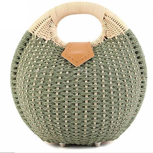 Women Shell Woven Beach Bag Image 3