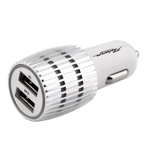Universal Aluminum 2 USB Ports Car Charger  Image 2