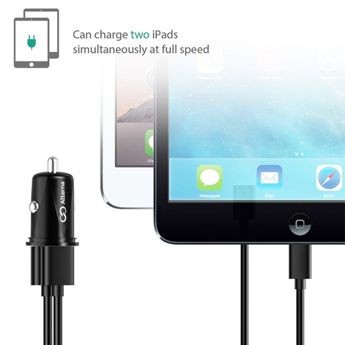 Portable 2 Port USB Car Charger Adapter Image 1