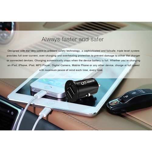 Portable 2 Port USB Car Charger Adapter Image 2