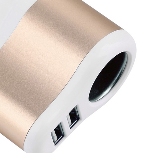 2 USB Port Car Charger With Lighter Socket Image 4