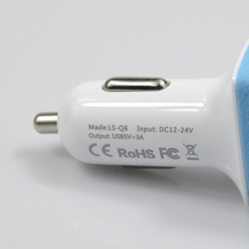 5V/3A 3 USB Ports Car Charger