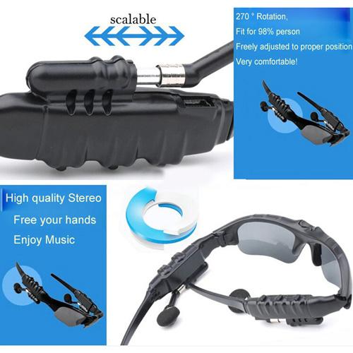 Wireless Headphone Bluetooth 4.1 Sunglass Image 5