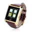Crystal Curved HRM Bluetooth Leather Wrist Watch