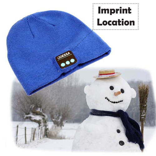 Outdoor Sport Bluetooth Stereo Music Hat Imprint Image