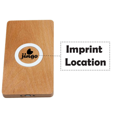 Wooden Strip Wireless Charger Power Pad Imprint Image