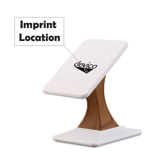 2 in 1 Wireless Charger Dock Cradle Stand Imprint Image