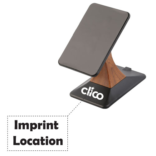 2 in 1 Mobile Wireless Charger Dock Cradle Stand Imprint Image