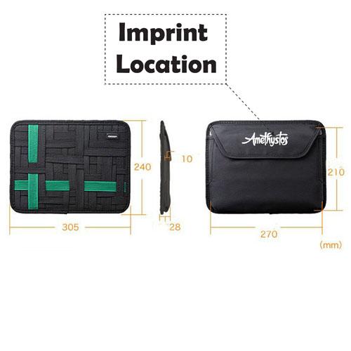 Storage Organization Wrap Case Cover Organizer Imprint Image