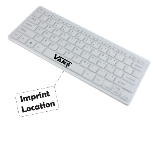 2.4G Ultra-Slim Wireless Keyboard With Mouse Imprint Image