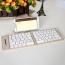 2 In 1 Slim Bluetooth Wireless Foldable Keyboard Image 2