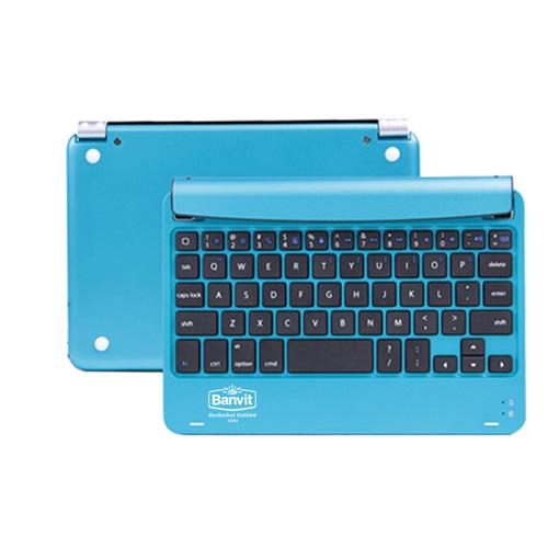 Multimedia Aluminum Wireless Bluetooth Keyboard Image 2