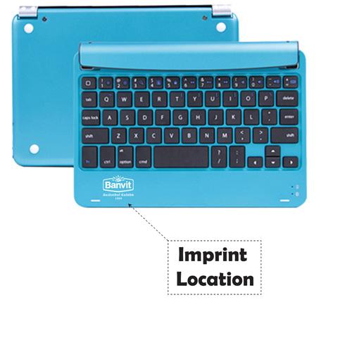Multimedia Aluminum Wireless Bluetooth Keyboard Imprint Image