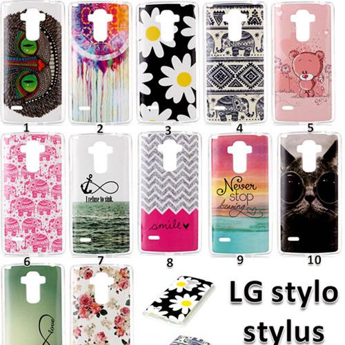 Soft TPU Elephant Owl Flowers Cell Phone Case