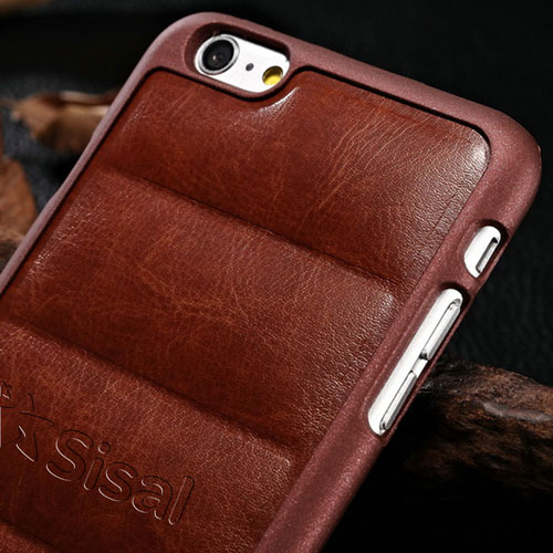 Plastic Edge Pattern Leather Phone Cover Image 4