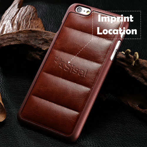 Plastic Edge Pattern Leather Phone Cover Imprint Image