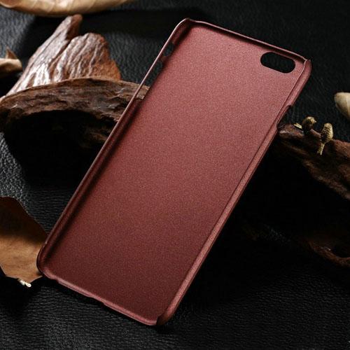 Fashion Woody Graining Black Edge Plastic Phone Back Cover
