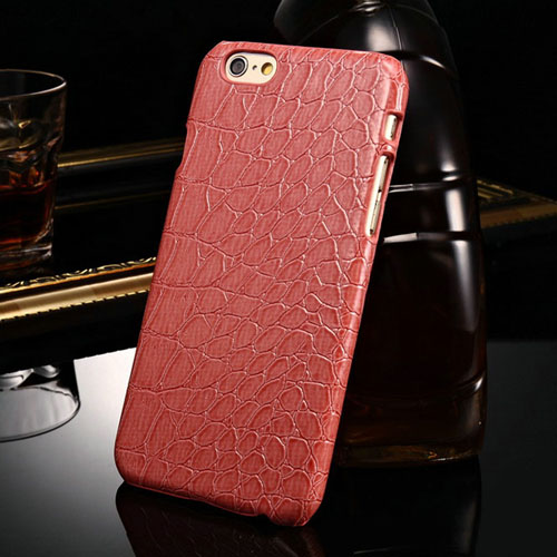 Alligator Pattern PU Leather Hard Phone Cover Image 3