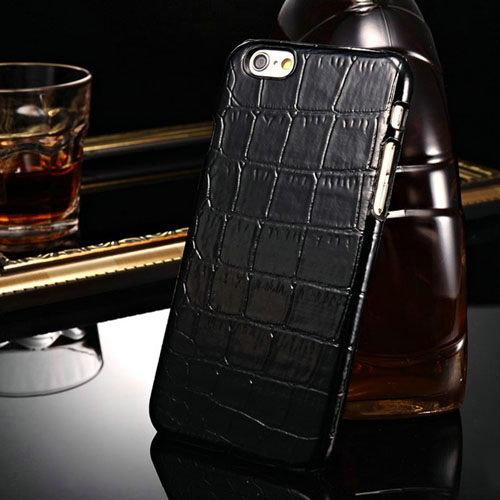 Alligator Pattern PU Leather Hard Phone Cover Image 4