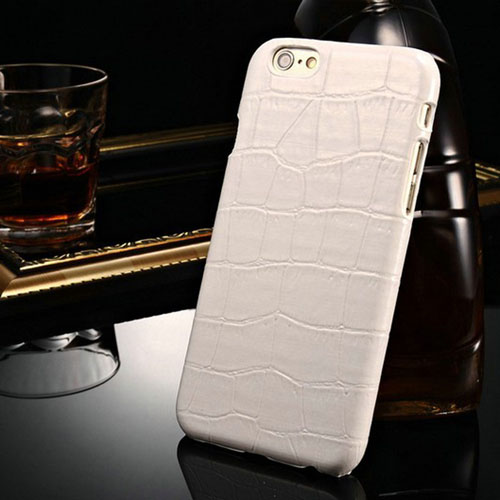 Alligator Pattern PU Leather Hard Phone Cover Image 5