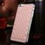 Sheepskin Chromed Edge Plastic Phone Back Cover