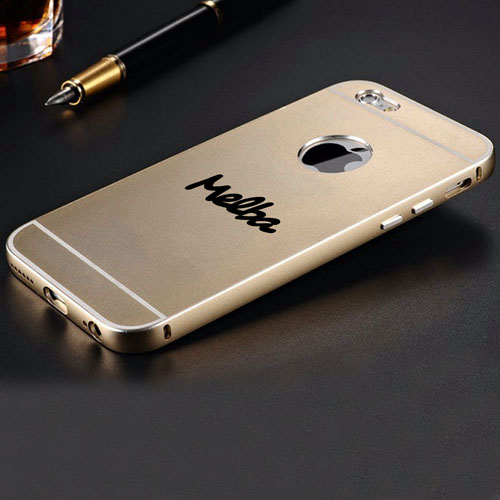 iPhone (All Model) Gold Aluminum Case Hard Metal Matte Surface Phone Case Image 3