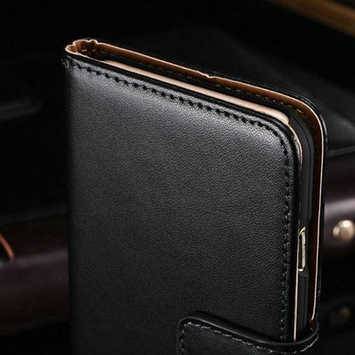 Genuine Flip Leather Wallet Card Holder Phone Bag Cover