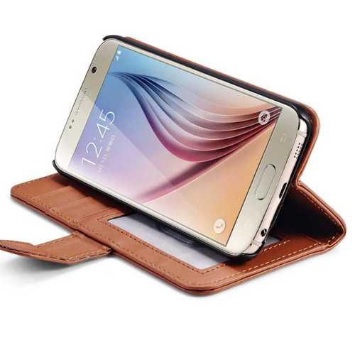 S6 Luxury PU Leather Flip Wallet Phone Bag Case Cover