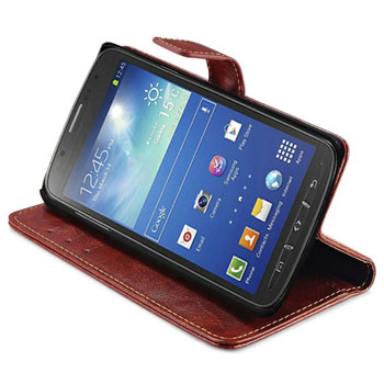 Coque Strong Protection Retro Flip Wallet PU Leather Case