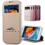 Luxury View Window Silicon Flip Sliding Answer Phone Bag Cover
