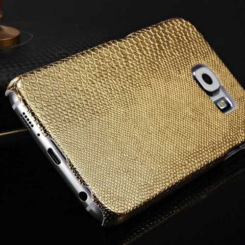 Luxury Protective Lizard Skin Pattern PU Leather Back Cover
